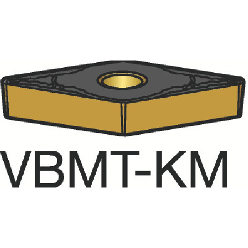 サンドビック コロターン107 旋削用ポジ・チップ 3215 10個 VBMT 16 04 08-KM 3215