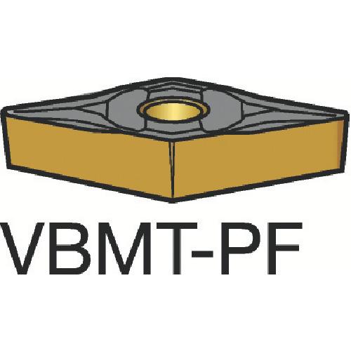 サンドビック コロターン107 旋削用ポジ・チップ 1515 10個 VBMT 16 04 08-PF 1515