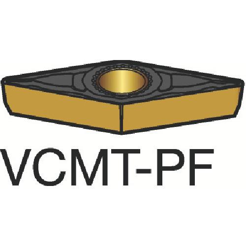 サンドビック コロターン107 旋削用ポジ・チップ 1515 10個 VCMT 11 03 02-PF 1515