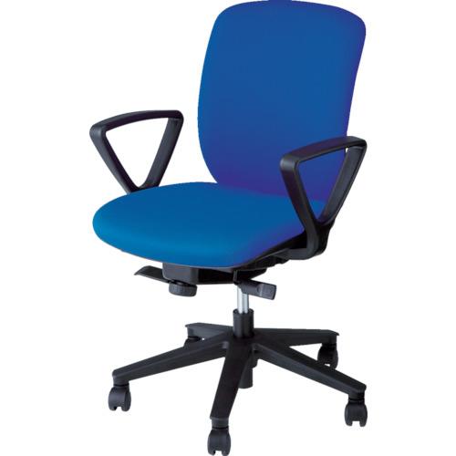 【直送】【代引不可】ナイキ(NAIKI) オフィスチェア ヴィアーレ 肘付き ブルー VE511F-BL