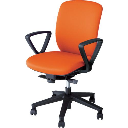 【直送】【代引不可】ナイキ(NAIKI) オフィスチェア ヴィアーレ 肘付き オレンジ VE511F-OR