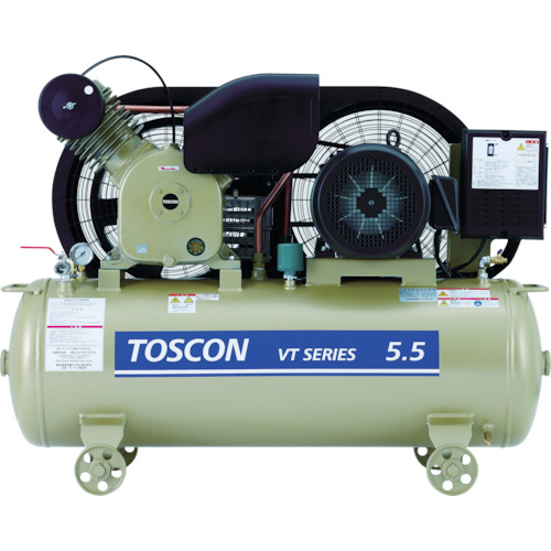 【直送】【代引不可】東芝産業機器 タンクマウントシリーズ オイルフリー コンプレッサ(低圧) VLT10D-4T