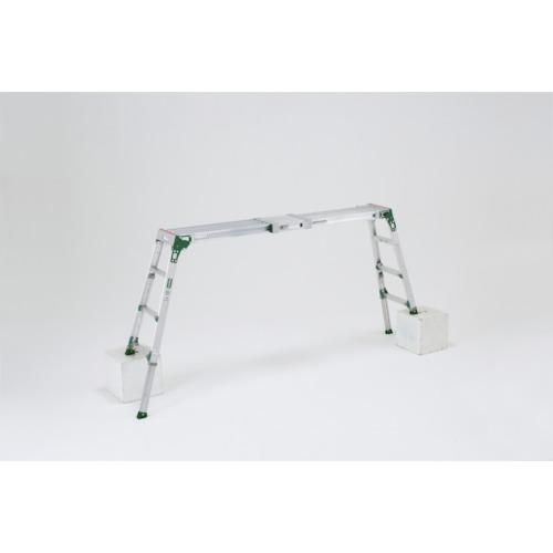 【直送】【代引不可】ALINCO(アルインコ) 伸縮天板・伸縮脚付足場台(アルミ合金製) 0.86~1.26m VSR1713F