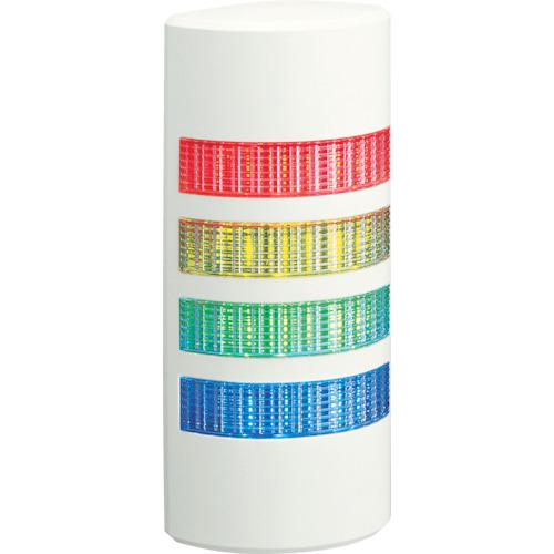 パトライト 薄型LED積層信号灯 壁面取付タイプ 赤、黄、緑、青 WEP-402-RYGB