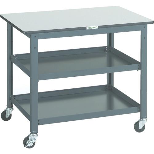 【直送】【代引不可】TRUSCO(トラスコ) 作業台補助テーブルワゴン 900X600X740 WHT-6090