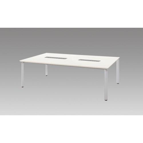 【直送】【代引不可】ナイキ(NAIKI) ミーティングテーブル 2400X1200XH700 ホワイト WK24125H-SVH