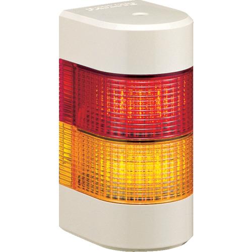 パトライト LED積層信号灯 壁面取付タイプ 赤、黄 WME-202AFB-RY
