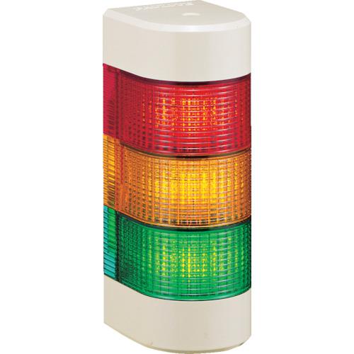 パトライト LED積層信号灯 壁面取付タイプ 赤、黄、緑 WME-302AFB-RYG