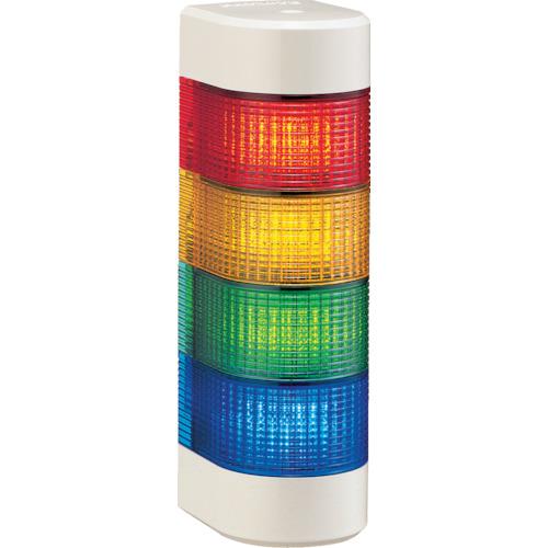 パトライト LED積層信号灯 壁面取付タイプ 赤、黄、緑、青 WME-402AFB-RYGB