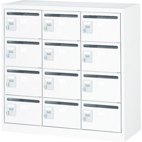 【直送】【代引不可】TRUSCO(トラスコ) メールボックス 12人用 手ぶらキー 900X380XH880 WMVK-12P