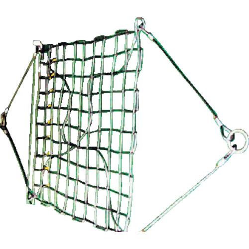 ニッコウ(日興製綱) ワイヤモッコA-1 リング型 網目100mm WRMA1-1.8-100