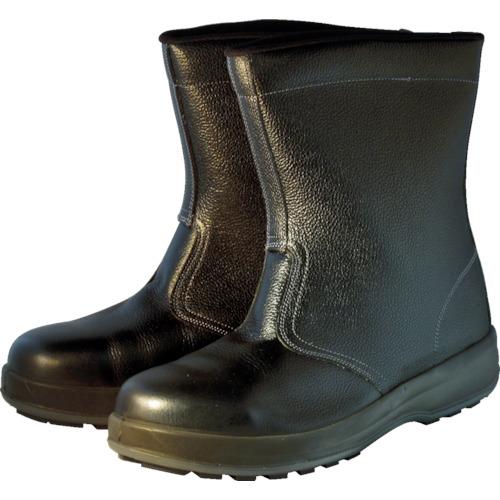 シモン(Simon) 安全半長靴 ウォーキング作業用靴 セフティ WS44 黒 24.0cm WS44BK-24.0