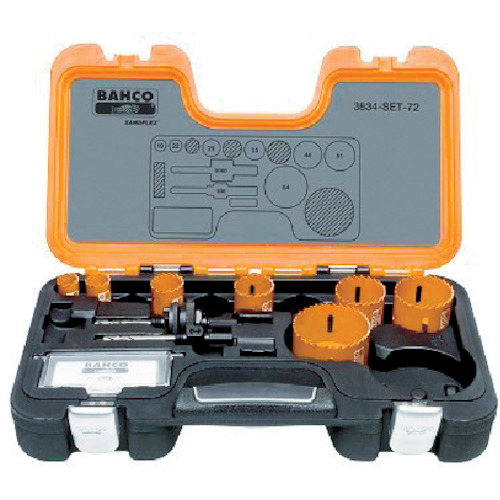 BAHCO(バーコ) バイメタルホルソーセット 19~64mm 3834-SET-72