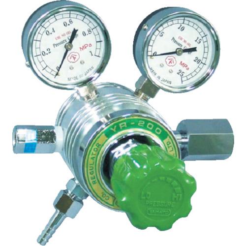 ヤマト産業 フィン付圧力調整器 エチレンガス W22-14(左) YR200C