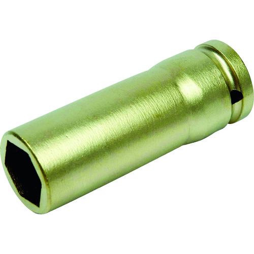A-MAG(アーマグ) 防爆6角インパクト用ディープソケット差込角1/2インチ用 対辺32mm 1個 0351018S