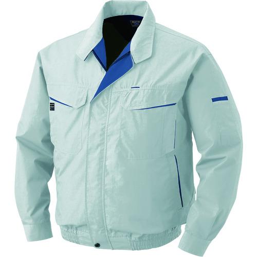 空調服 綿・ポリ混紡ワーク ワンタッチファングレー 大容量バッテリーセット シルバー M 1着 0470-G22-C06-S2