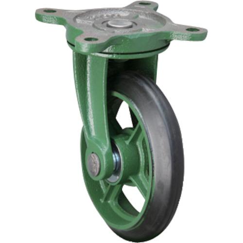 【直送】【代引不可】東北車輛製造所 標準型自在金具付ゴム車輪 1個 300BRB