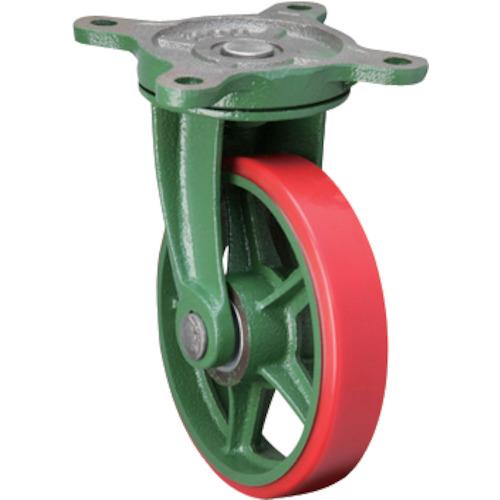 【直送】【代引不可】東北車輛製造所 標準型自在金具付ウレタン車輪 1個 300BRULB