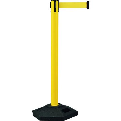 【直送】【代引不可】日本緑十字社 ベルトパーテーション 黄 高さ1020mm 六角ベースタイプ 6.5kg 332101