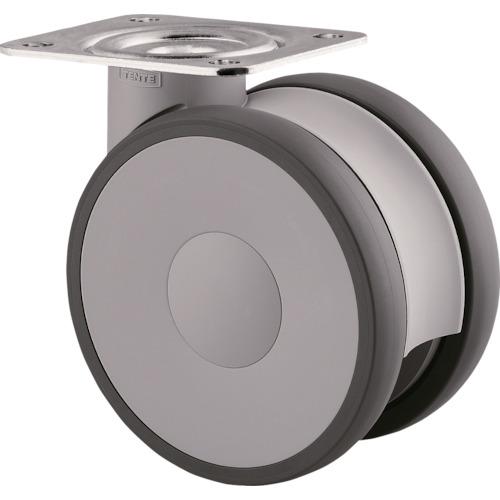 テンテキャスター 高性能旋回双輪キャスターLINEA(ウレタン車輪) 1個 5940UAP125P63