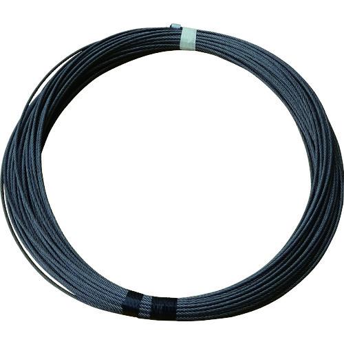 TKK(トーヨーコーケン) BH-820専用交換ワイヤロープ ワイヤロープ φ6×21m (麻芯6×19) 1本 6X21M BH-820