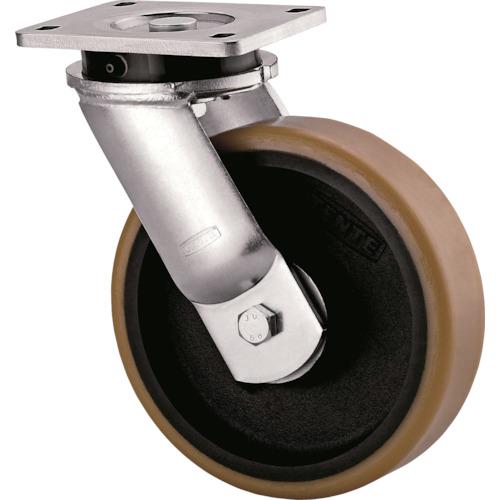 【直送】【代引不可】テンテキャスター 超重荷重用キャスター(ウレタン車輪) 1個 9650FTP300P63
