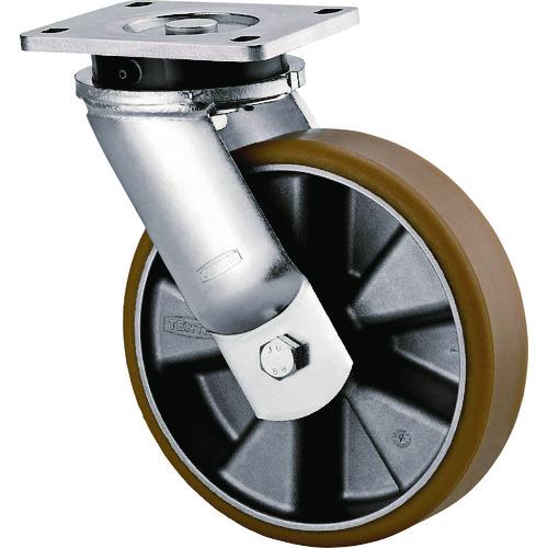 テンテキャスター 重荷重用高性能旋回キャスター(AGV用、ウレタン車輪) 1個 9650ITP200P63 CONVEX
