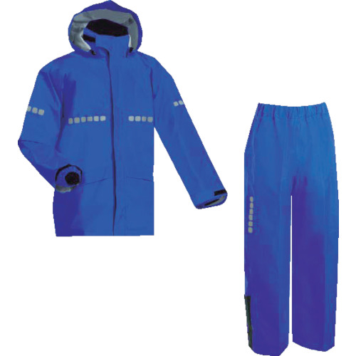 MAEGAKI(前垣) AP1000ワーキングレインスーツ ロイヤルブルー Lサイズ 1着 AP1000 R.BLUE L