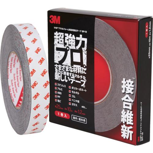 3M VHB構造用接合テープ 超強力プロ 接合維新 25mmX10m 1巻 BR-12 25X10