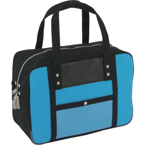 SANEI 帆布メール用ボストン(M)SED-1錠付 ブルー 1個 BTM-SED-09