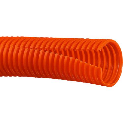 パンドウイット コルゲートチューブ ポリエチレン スリット付き オレンジ 1巻 CLT35F-C3