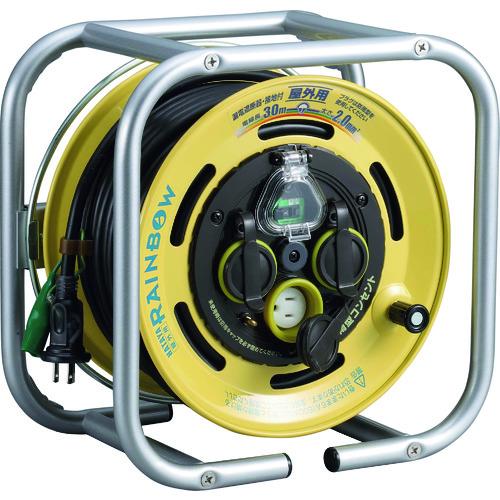 HATAYA(ハタヤ) 段積みリールケーブルタイプ 漏電遮断器付 接地付 1台 DBE-30K