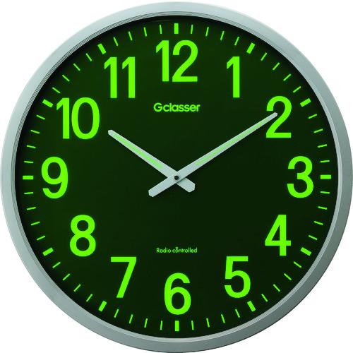 キングジム(KINGJIM) 電波掛時計 ザラージ集光・蓄光文字盤 1個 GDKS-001
