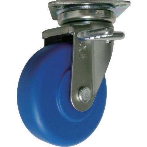ユーエイキャスター 産業用キャスターダブルS付自在車200径MCナイロン車輪 1個 MCBJB-200(R)