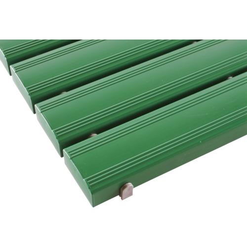 【直送】【代引不可】テラモト 抗菌安全スノコ(組立品) 400×1800 緑 1枚 MR-093-314-1