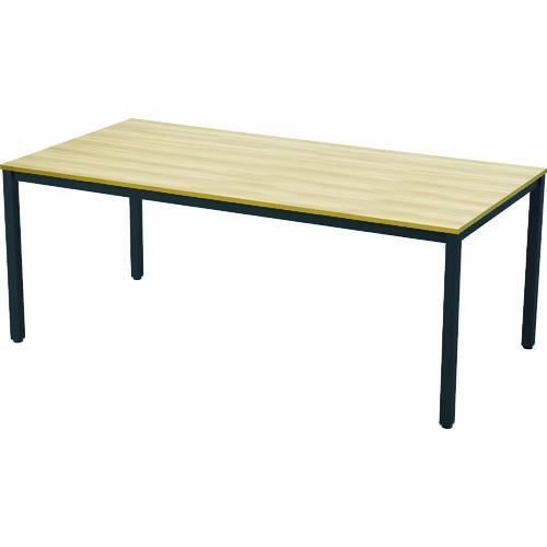 【直送】【代引不可】TRUSCO(トラスコ) ミーティングテーブル W1800xD900 ナチュラル天板X黒脚 1台 MT1890NA-BK