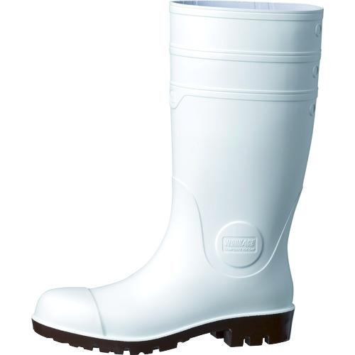 ミドリ安全 耐油・耐薬 安全長靴 ワークエース NW1000スーパー ホワイト 25.5cm 1足 NW1000SP-W-25.5
