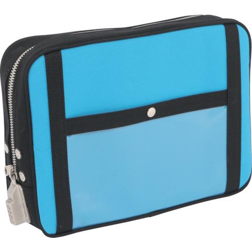 SANEI 帆布メール用ポーチ(L)SED-1錠付 ブルー 1個 PL-SED-09