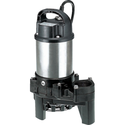 ツルミ(鶴見製作所) 樹脂製雑排水用水中ハイスピンポンプ 非自動 80L/min 全揚程6.5m 50HZ 100V 40PN2.25S 50HZ