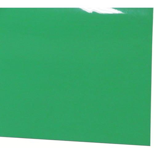 【直送】【代引不可】ミヅシマ工業 ビニール長マット 平板 910mmx20m ライトグリーン 411-0352