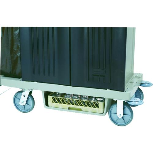 【直送】【代引不可】ラバーメイド ハウスキーピングカート用底面ラックキット プラチナ RM6196PT