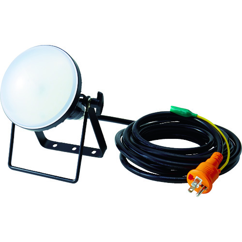 TRUSCO(トラスコ) LED投光器 DELKURO 20W 5m アース付 2芯3芯両用タイプ 1台 RTLE-205EP