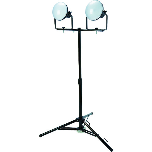 TRUSCO(トラスコ) LED投光器 DELKURO 三脚タイプ 2灯 50W 5m アース付 2芯3芯両用タイプ 1台 RTLE-505EP-SK2