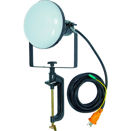 TRUSCO(トラスコ) LED投光器 DELKURO バイスタイプ 50W 10m アース付 2芯3芯両用タイプ 1台 RTLE-510EP-V