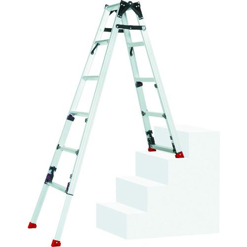 【直送】【代引不可】Pica(ピカ) 四脚アジャスト式脚立スーパーかるノビSCN型階段用 SCN-45