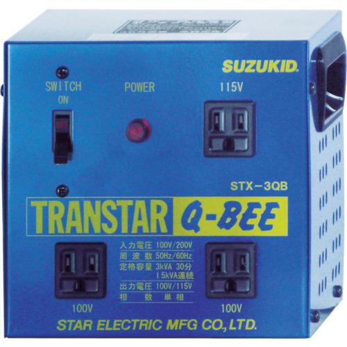 SUZUKID(スズキッド) 変圧器 トランスターQBEE 昇圧・降圧兼用 1台 STX-3QB