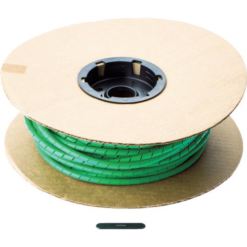 パンドウイット スパイラルラッピング ポリエチレン 緑 1巻 T50F-C5