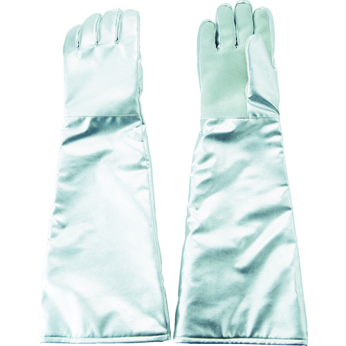 TRUSCO(トラスコ) 遮熱・耐熱手袋 ロング 手のひら牛床革補強付 1双 TMT-767FALT