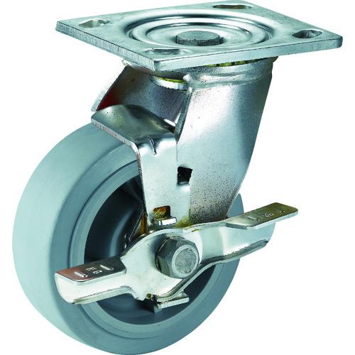 SAMSUNGCASTER ステンレスキャスター 自在SP付 エラストマー 100mm 24個 TP6740-01-MIR-TLB