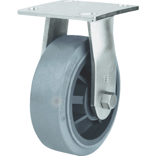 SAMSUNGCASTER ステンレスキャスター 固定 エラストマー 100mm 24個 TP6740R-01-MIR